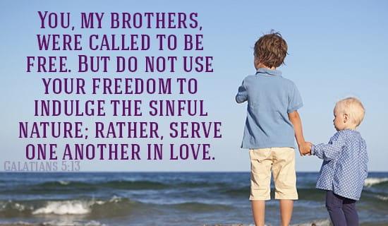 Galatians 5:13 ecard, online card