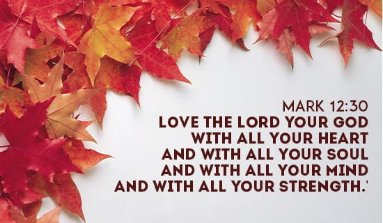 Mark 12:30 ecard, online card