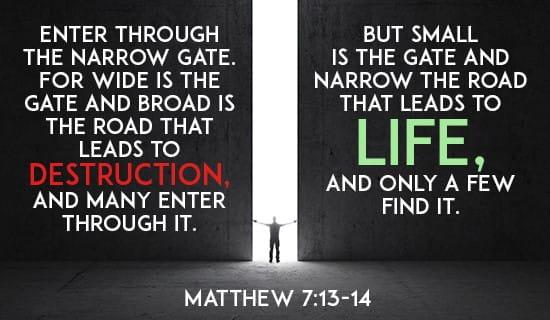Matthew 7:13-14 ecard, online card