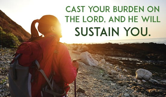 Cast all your burdens upon the LORD ecard, online card