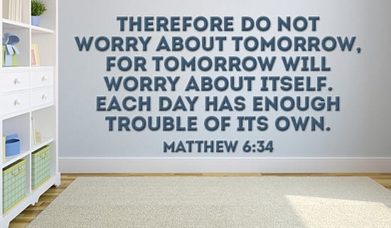 Matthew 6:34 ecard, online card