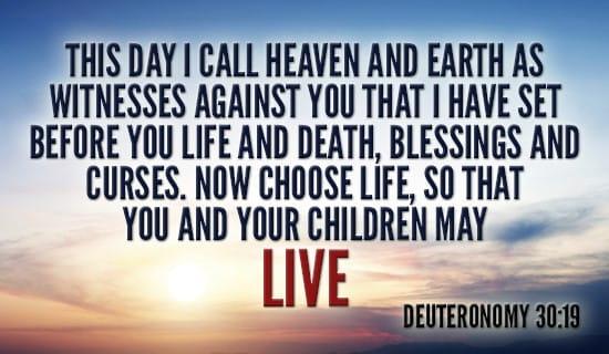 Deuteronomy 30:19 ecard, online card
