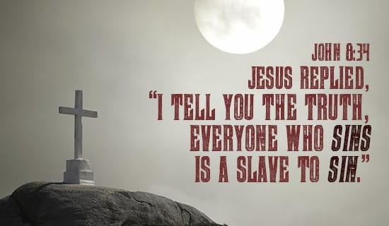 John 8:34 ecard, online card