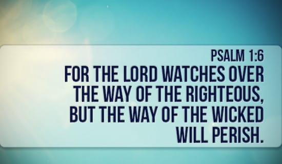 Psalm 1:6 ecard, online card