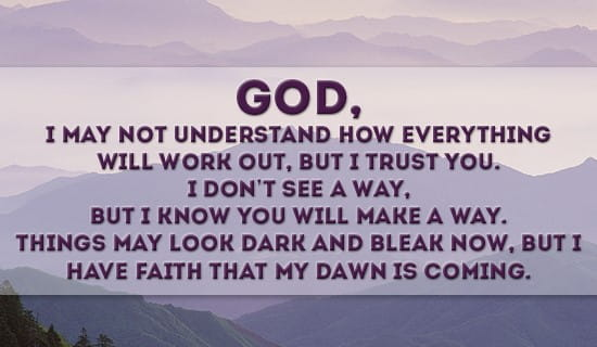 I trust you, God! ecard, online card