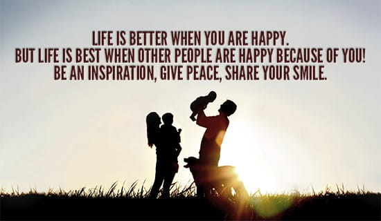 Happiness makes life so much better! ecard, online card