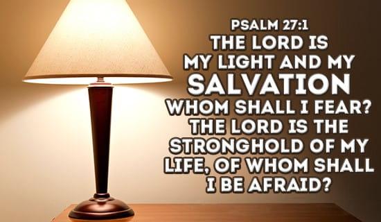 Psalm 27:1 ecard, online card