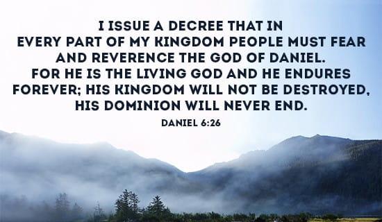 Daniel 6:26 ecard, online card