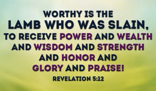 Revelation 5:12 ecard, online card