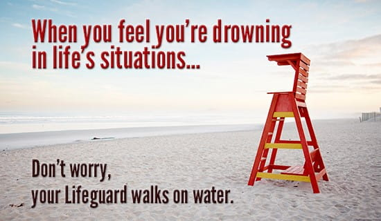 When you feel like you're drowning ecard, online card
