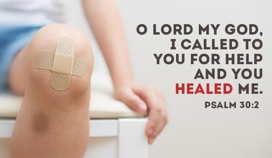 Psalm 30:2 ecard, online card