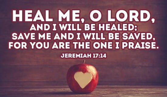 Jeremiah 17:14 ecard, online card