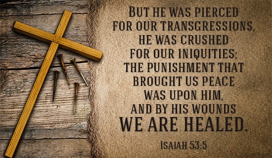 Isaiah 53:5 ecard, online card