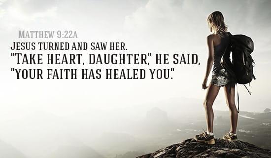 Matthew 9:22a ecard, online card