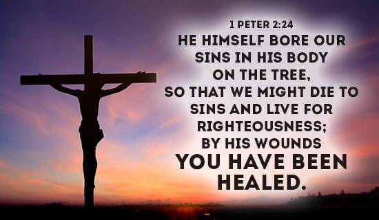 1 Peter 2:24 ecard, online card