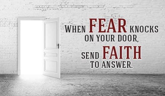 Fear may knock, but how will YOU answer it? ecard, online card