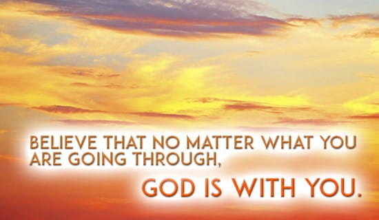 God will always be with you! ecard, online card