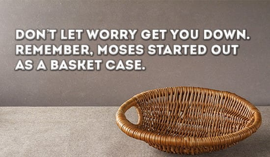 Even Moses was a basket case :D ecard, online card