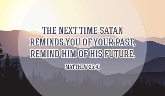 If Satan troubles you, just remind him... ecard, online card