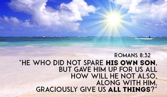 Romans 8:32 ecard, online card