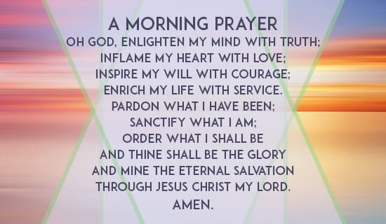 A Morning Prayer ecard, online card