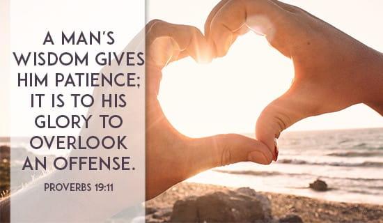Proverbs 19:11 ecard, online card