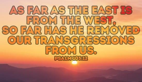 Psalm 103:12 ecard, online card