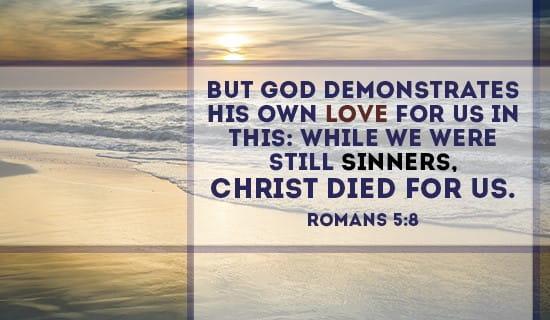 Romans 5:8 ecard, online card