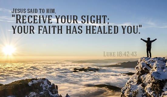 Luke 18:42-43 ecard, online card