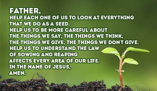 Sowing and Reaping ecard, online card