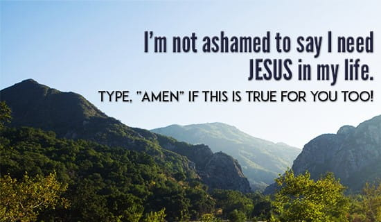 I need Jesus in MY Life! ecard, online card