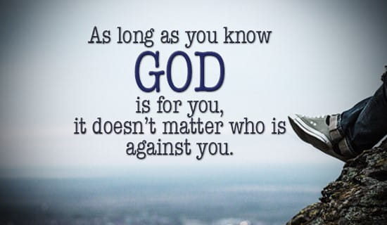 God will always be for you! ecard, online card