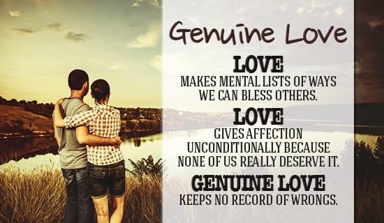 Genuine Love is... ecard, online card