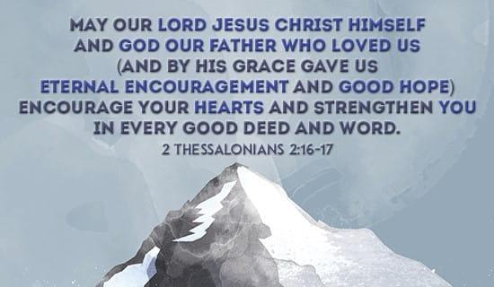 2 Thessalonians 2:16-17 ecard, online card