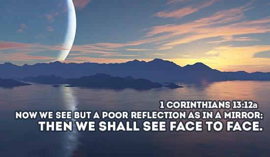 1 Corinthians 13:12a ecard, online card