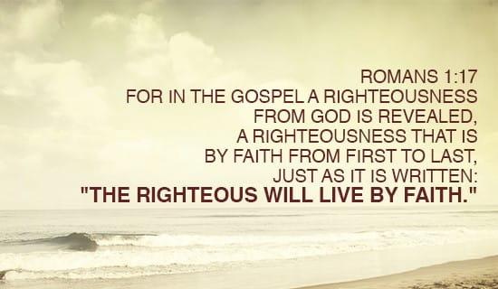 Romans 1:17 ecard, online card