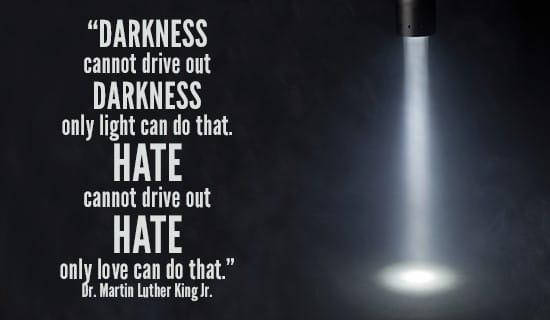 Light will drive away the Darkness ecard, online card