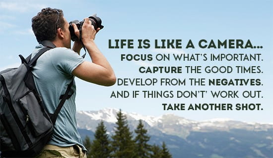Life is like a camera... ecard, online card