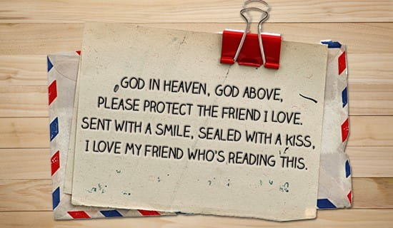Please protect my Friends, God ecard, online card