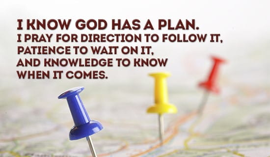 God always has a plan for you! ecard, online card