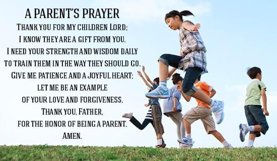 Parents' Prayer ecard, online card