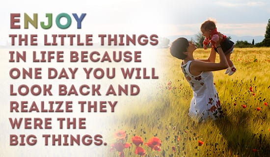 Do you enjoy the small things? ecard, online card