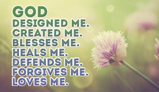 God designed ME! ecard, online card