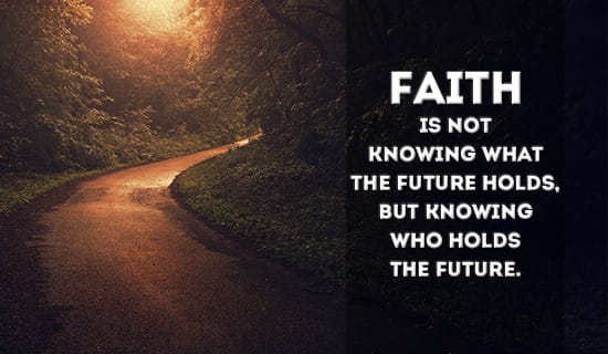 Faith is knowing who hold the Future ecard, online card