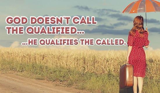 God will Qualify YOU! ecard, online card