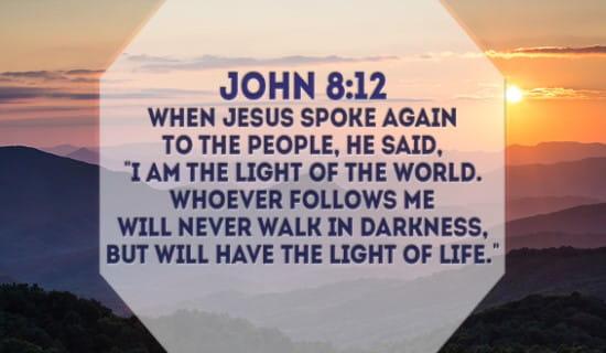 John 8:12 ecard, online card