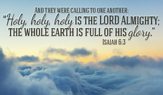 Isaiah 6:3 ecard, online card