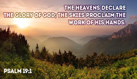 Psalm 19:1 ecard, online card