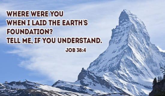 Job 38:4 ecard, online card