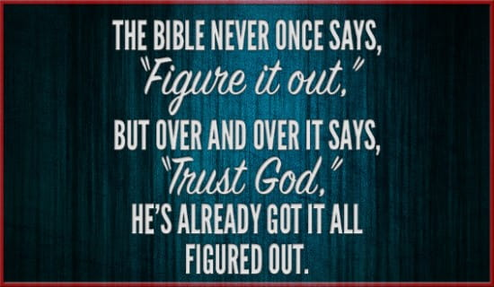 Trust God! ecard, online card